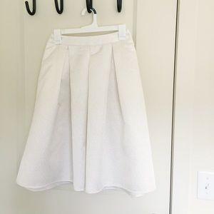 High Waisted Pleated Skirt
